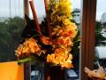 Buffet Centerpiece Bamboo and Orchids